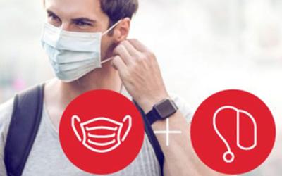 Hoe draag je hoortoestellen en een mondmasker?