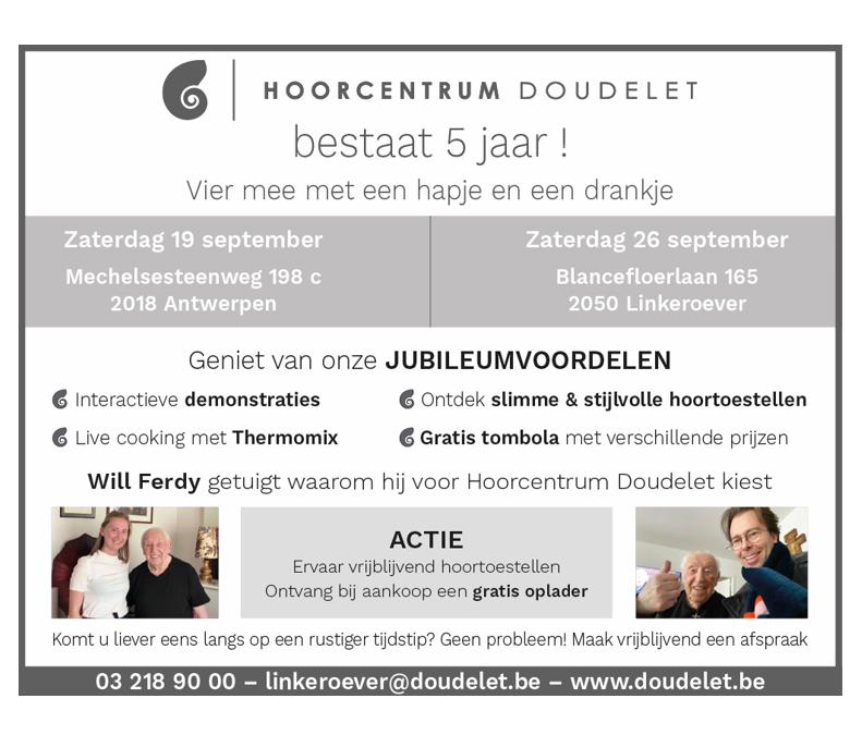 Hoorcentrum Doudelet verjaart en viert dat samen met u!